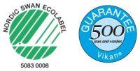 Nordic eco label i garancija na 500 pranja