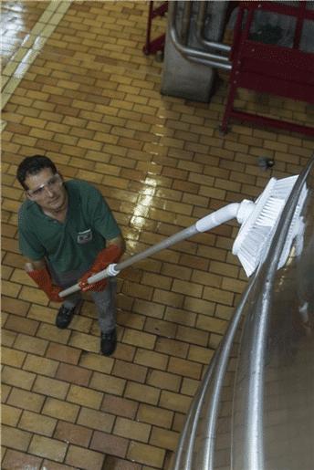 Vikan teleskopska drška za pranje inox spremnika
